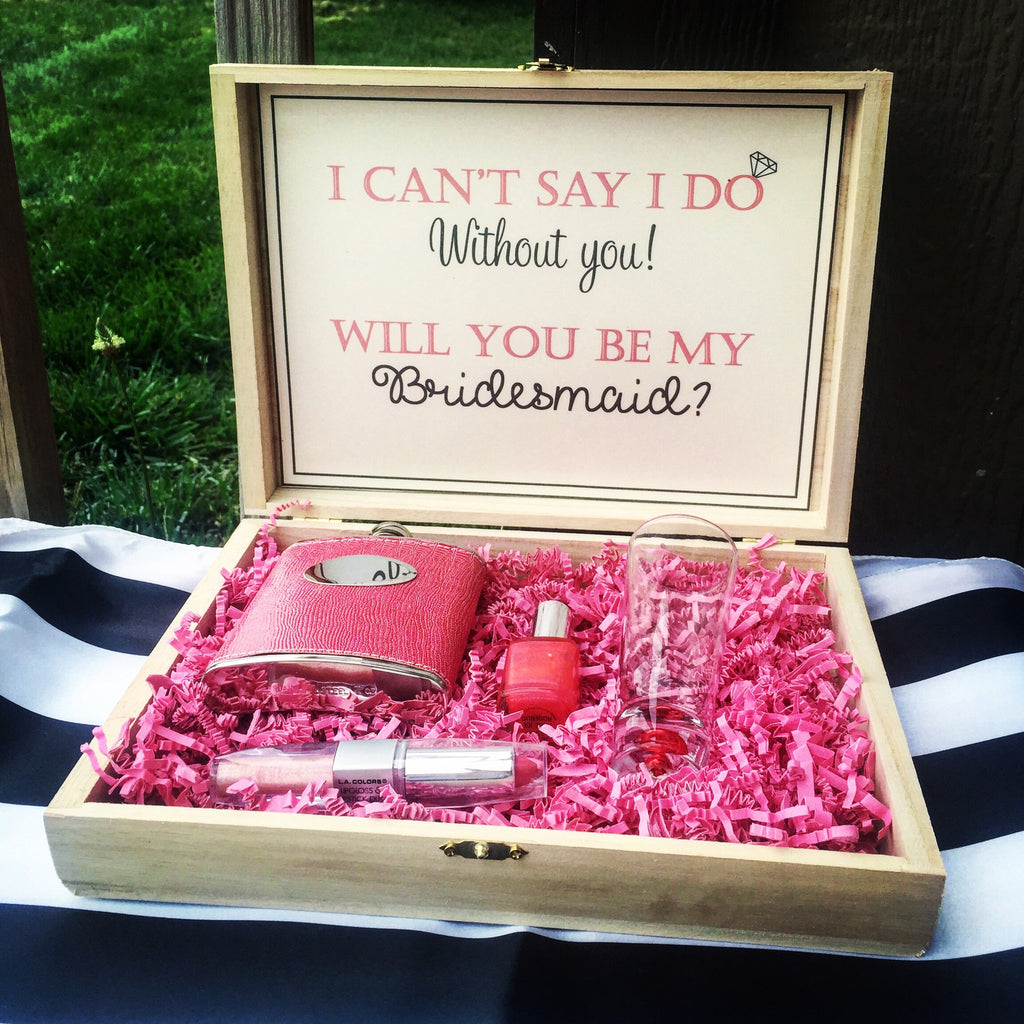 Customized Bridesmaid Maid Of Honor Box Knot And Nest