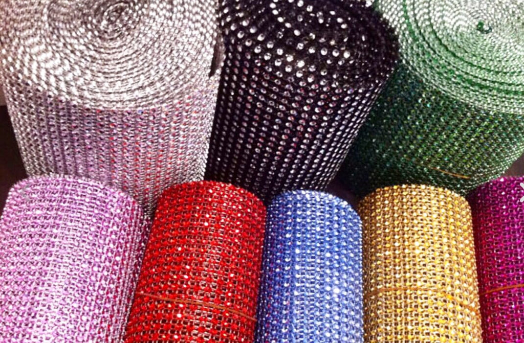 30 foot roll of rhinestone decor
