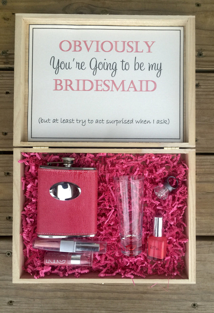 Load image into Gallery viewer, Engraved Bridesmaid box - Knot and Nest Designs