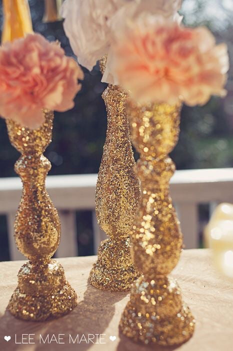 Choose your color Glitter Candle Stick Holder - Knot and Nest Designs