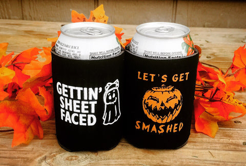 2 pack Halloween koozies - Knot and Nest Designs