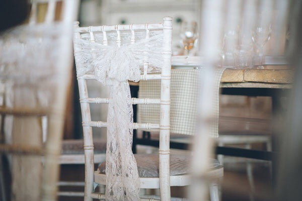 Lace Chair Sash - Knot and Nest Designs