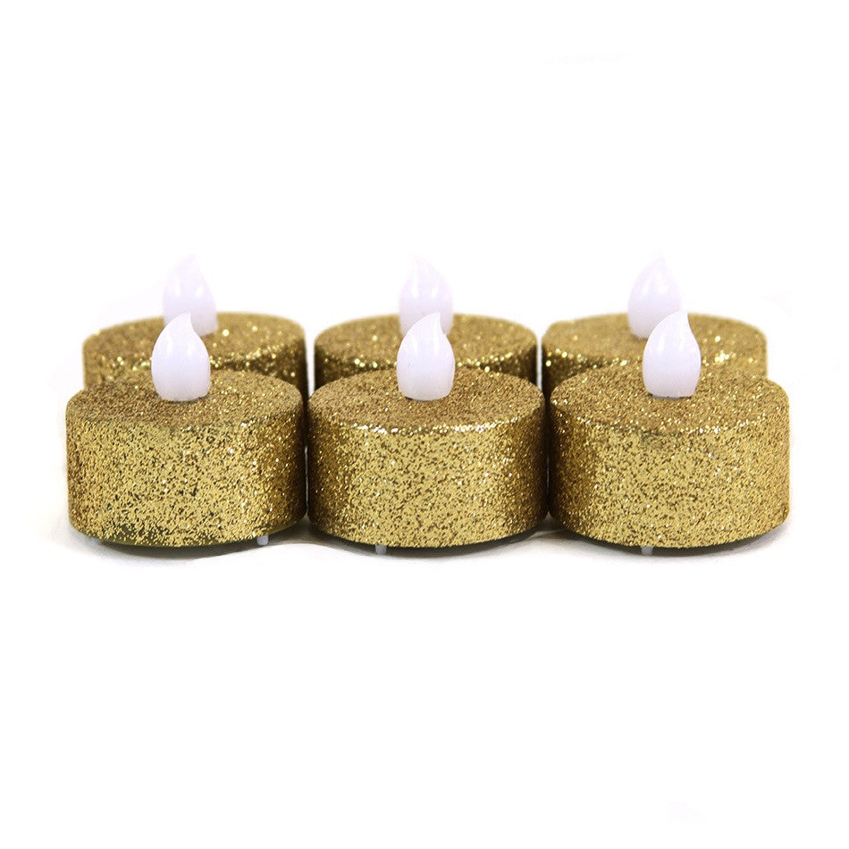 24 - Choose your color glitter tealights - Knot and Nest Designs