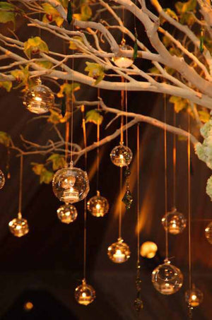 Hanging candle holder  terrarium - Knot and Nest Designs