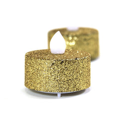 24 - gold glitter tealights