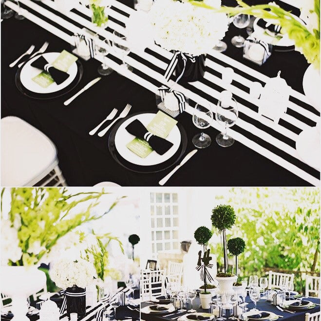 Black and White Table Runner - Knot and Nest Designs