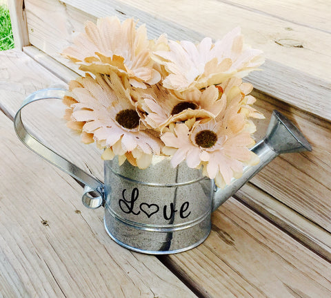 5 pack - Watering can centerpieces - Knot and Nest Designs