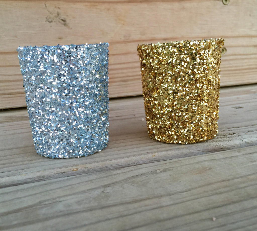 Glitter Votives - 12 Pack - Knot and Nest Designs