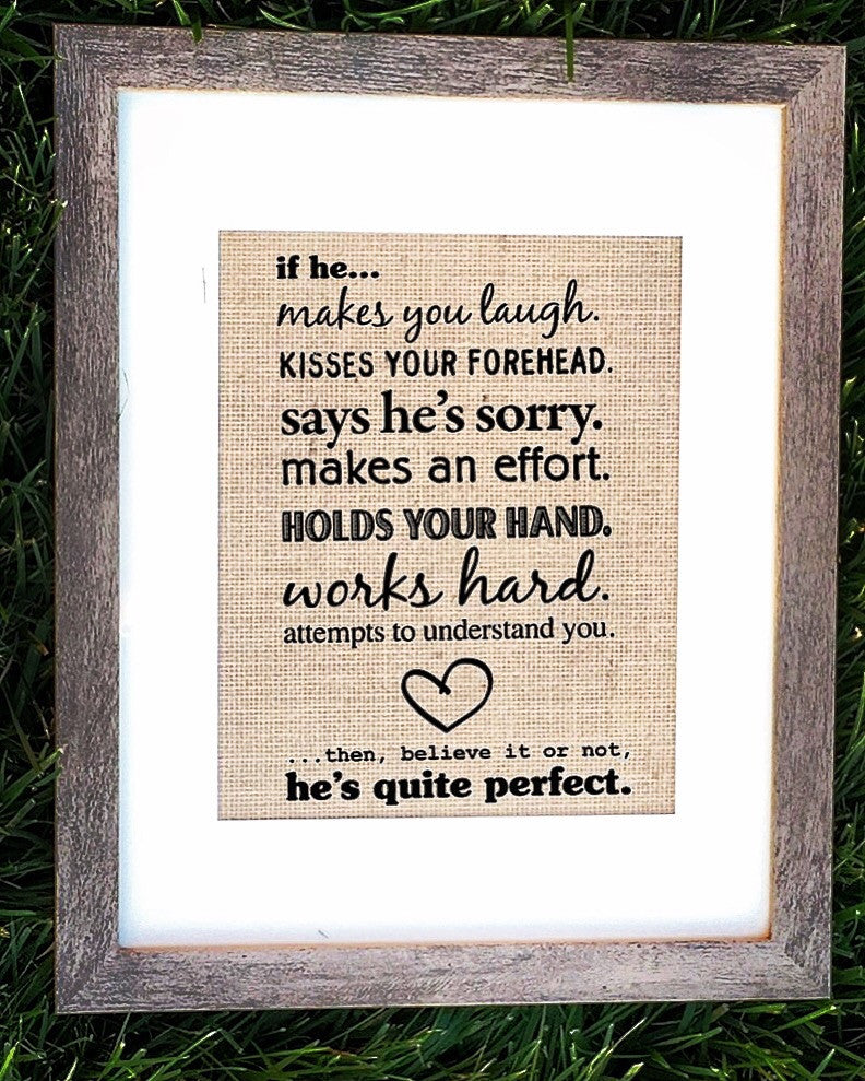 Burlap Love Quote Sign