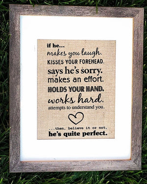 Burlap Love Quote Sign - Knot and Nest Designs