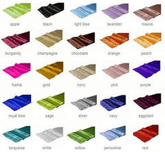 Satin Table Runner - choose your color
