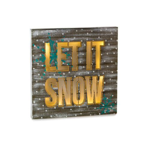 Let It Snow Light Up Decor - Knot and Nest Designs