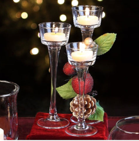 Pedestal candle holders - Set of Four Choose your size