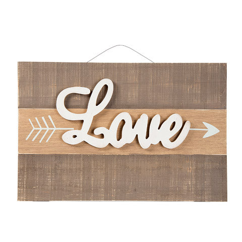 Rustic Love Arrow Wooden Sign - Knot and Nest Designs