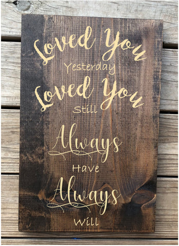Engraved Love You Pinewood Sign - Knot and Nest Designs