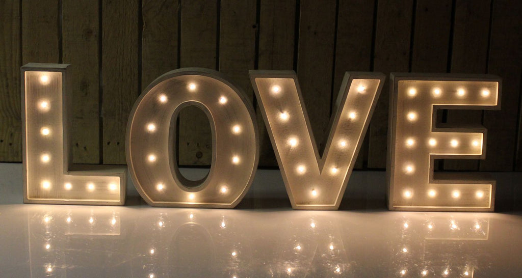 Marquee Lighted Love Letters