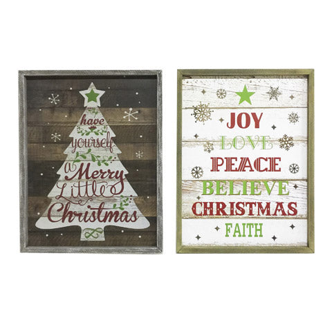 Peace Christmas Sign.Vintage Christmas Sign Choose Your Style