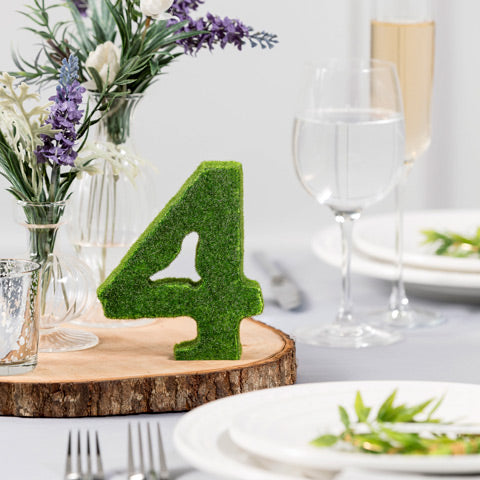 Elegant Moss Table Number 1-15 - Knot and Nest Designs