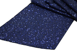 Load image into Gallery viewer, Navy Sequin Table Runner - Knot and Nest Designs