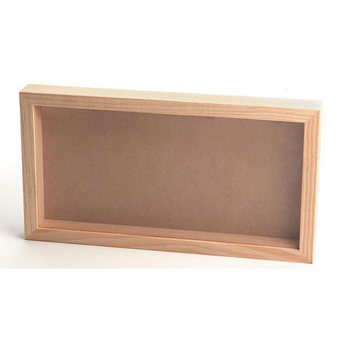 Pine Wood Shadow Box