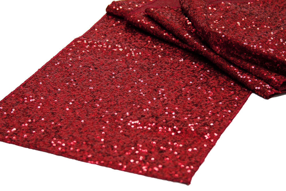 Red Sequin Table Runner - Knot and Nest Designs