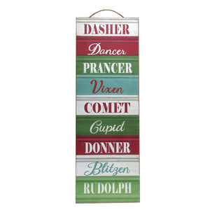 Reindeer Name Holiday Decor - Knot and Nest Designs