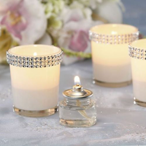 Rhinestone votives - 12 pack - Knot and Nest Designs
