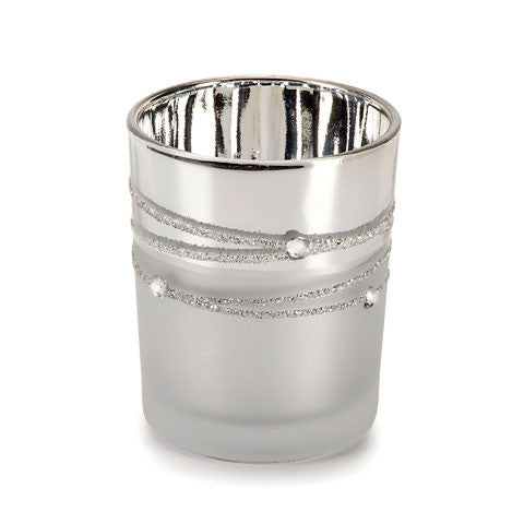Silver Mercury Rhinestone Votives - 12 Pack