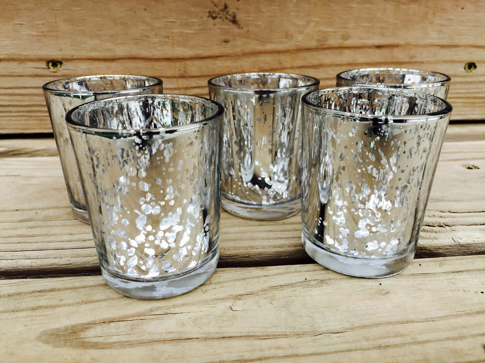 Silver Mercury Votives - 12 Pack - Knot and Nest Designs