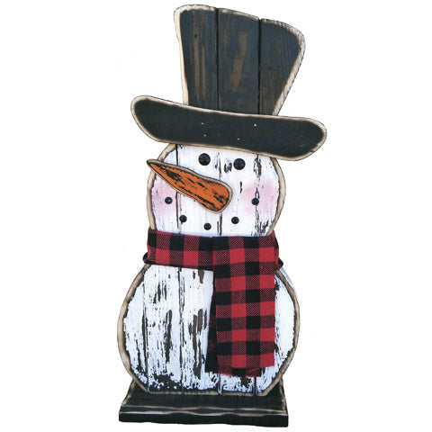 Wooden Frosty Snowman - Knot and Nest Designs