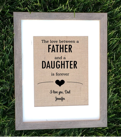 The love between a father and daughter/son - Knot and Nest Designs