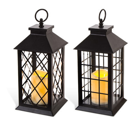 Classic Lantern With Candle - Knot and Nest Designs
