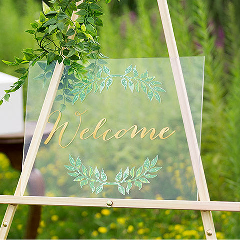 Welcome Wedding Acrylic Sign - Knot and Nest Designs