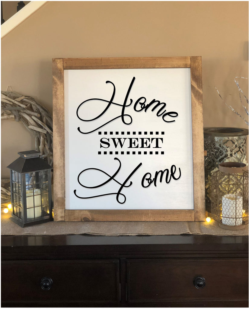 Large Home Sweet Home Farmhouse Sign - Real Pinewood ...