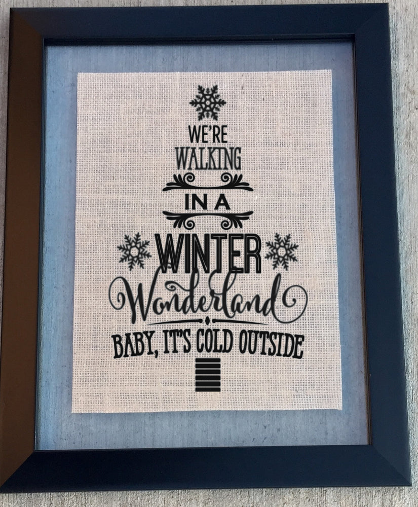 Winter Wonderland Burlap Sign