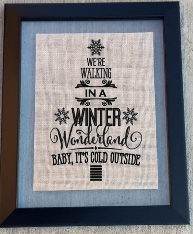 Winter Wonderland Burlap Sign - Knot and Nest Designs