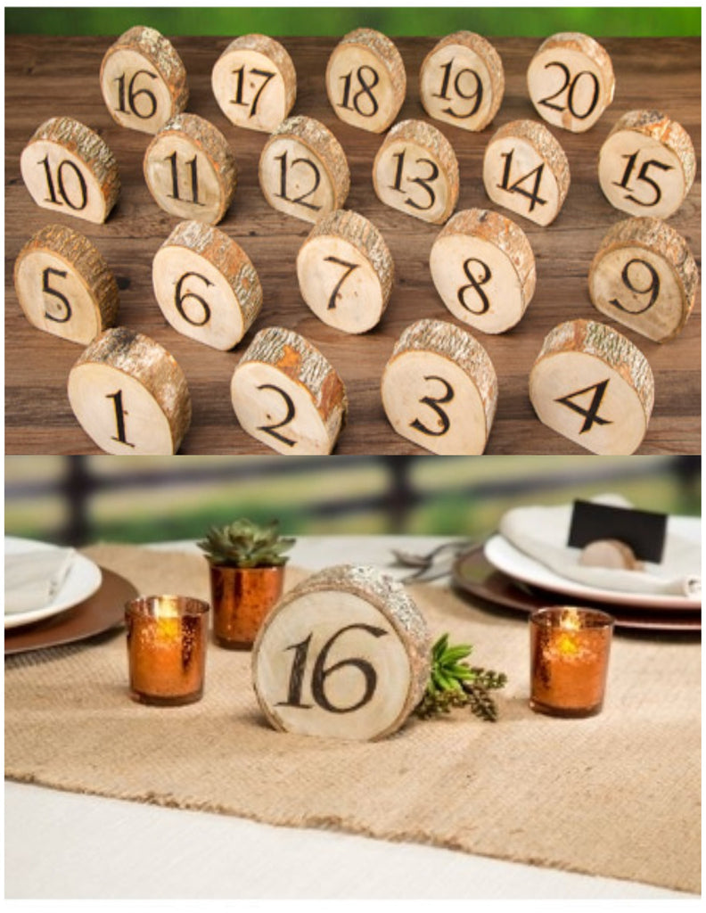 Wood Table Numbers 1-20 - Knot and Nest Designs