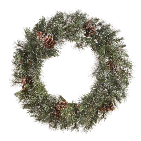 Snow Dusted Holiday Wreath - Knot and Nest Designs