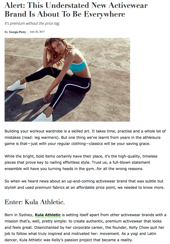 Sporteluxe Kula Athletic feature