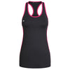 Image of black and pink racer back tank with KA logo