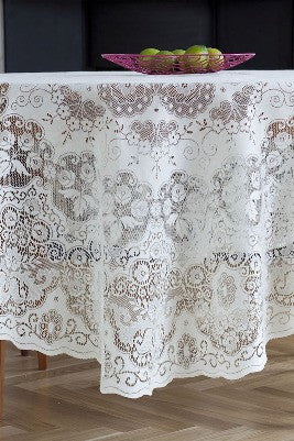 Scottish Lace Tablecloths - Exquisite Nottingham Lace