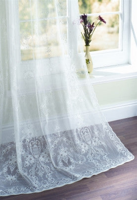 Scottish Lace Curtains - Vintage Cotton Lace Curtains