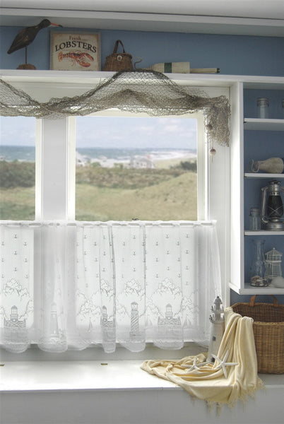 Lighthouse Lace Curtains White Tb Stores