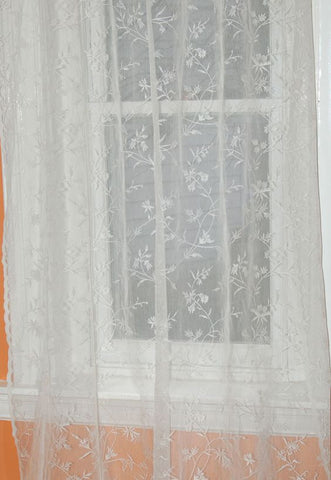 Vicky Scottish Lace Curtains with Dentil Bottom