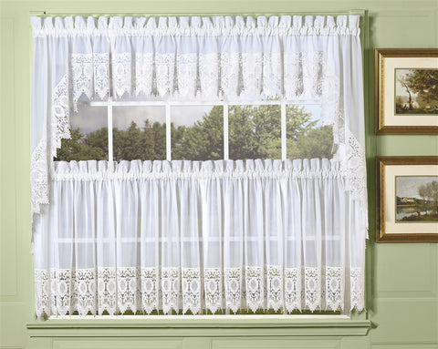 Diana Sheer with Macrame Trim Lace Curtains