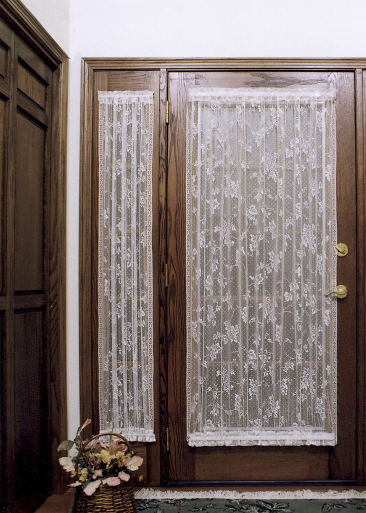 English Ivy Lace Curtain Sidelights   Side Door Curtains