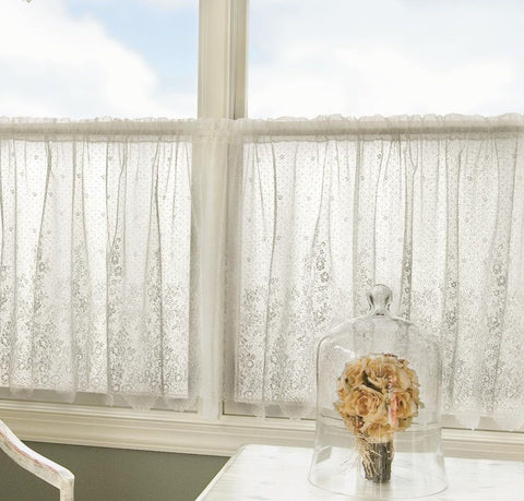 Floret Lace Curtains - Ecru & White - Sold Out