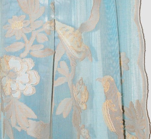 Paradise Bird Scottish Lace Curtains - Fine Madras - Sold Out