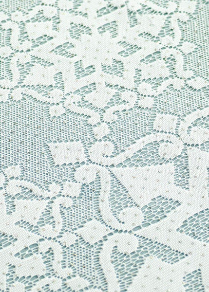 Glisten Holiday Snowflake Table Lace White