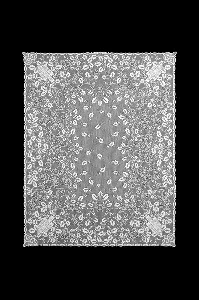 Holly Glow Lace Tablecloth - White - 60 x 84 inches
